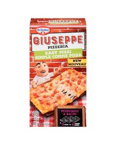 Giuseppe Pizzeria Easy Pizzi Pepperoni & Bacon 600G