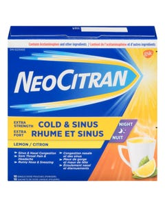 NeoCitran Cold & Sinus Extra Strength Night 10 count