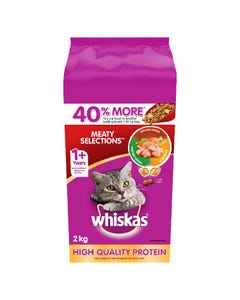 Whiskas Meaty Selections Cat Food 2KG