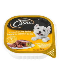 Cesar Chicken & Liver Recipe Classic Loaf in Sauce Dog Food 100G