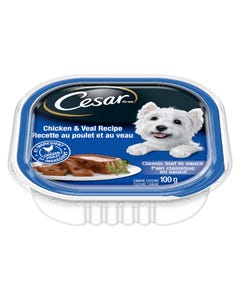 Cesar Chicken & Veal Recipe Classic Loaf in Sauce Dog Food 100G