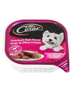 Cesar Porterhouse Steak Flavour Classic Loaf in Sauce Dog Food 100G
