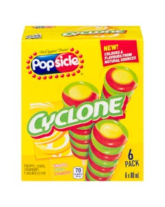 Popsicle Cyclone Pineapple, Lemon & Strawberry 6X80ML