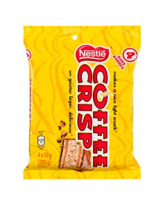 Coffee Crisp Chocolate Bars 4pk 200g
