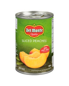Del Monte Sliced Peaches 398ML