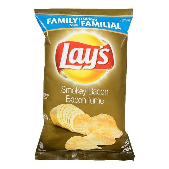 Lay's Croustilles Bacon Fumé 235G