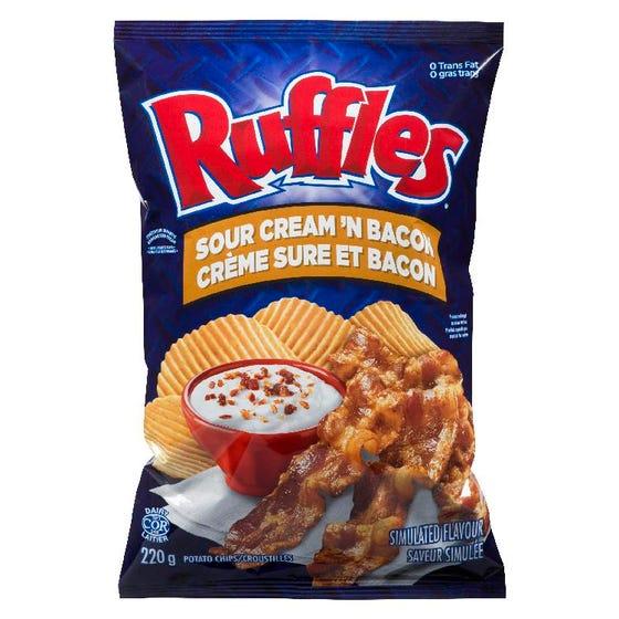 Ruffles Creme Sure Et Bacon 200G