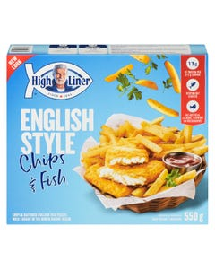 High Liner English Style Chips & Fish 550G