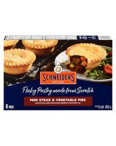 Schneiders Mini Steak & Vegetable Pies 400G