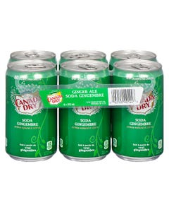 Canada Dry Ginger Ale Mini 6X222ML