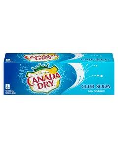 Canada Dry Club Soda Low Sodium 12X355ML