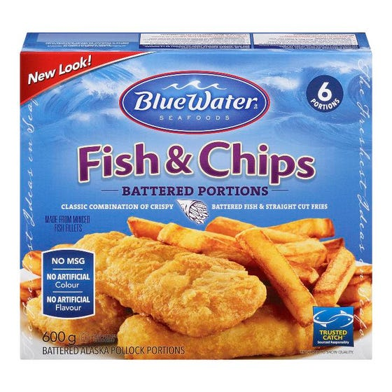 Blue Water Fish and Chips 600g