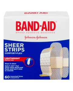 BandAid Bandages Assorted Sizes 60ct