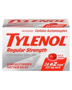 Tylenol Regular Strength 325MG eZTabs 24CT