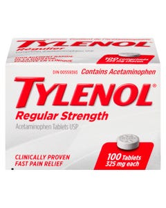 Tylenol Regular Strength 325MG Tablets 100CT