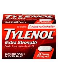Tylenol Extra Strength 500mg Caplets 24ct