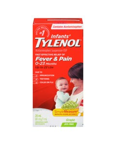 Tylenol Infant Drops Dye Free Grape 24ml