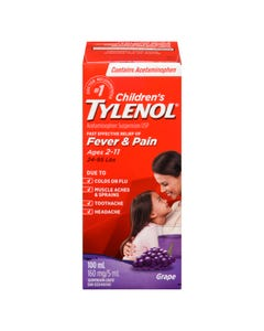 Children's Tylenol Grape Suspension Liquid 160mg/5ml 100ml