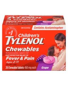 Tylenol à Croquer Enfants Raisin 20'S