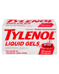 Tylenol Regular Strength 325mg Liquid Gels 32ct
