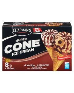 Chapman's Super Cone Ice Cream Vanilla & Caramel 8X120ML