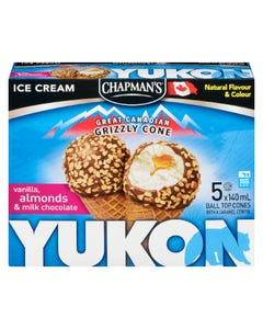 Chapman's Yukon Ice Cream Cone 5X140ML