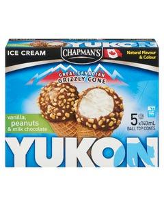 Chapman's Yukon Vanilla & Peanuts Cone 5X140ML