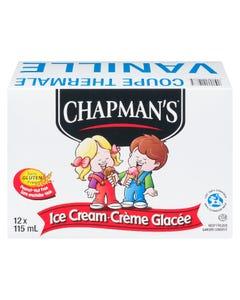 Chapman's Vanilla Ice Cream Thermal Cup 12X115ML