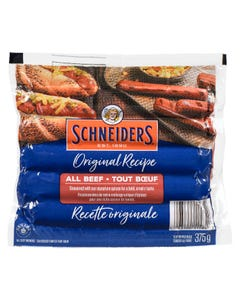 Schneiders Original Recipe All Beef Wieners 375G