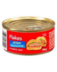 Maple Leaf Flakes of Ham 26% Less Salt 156G