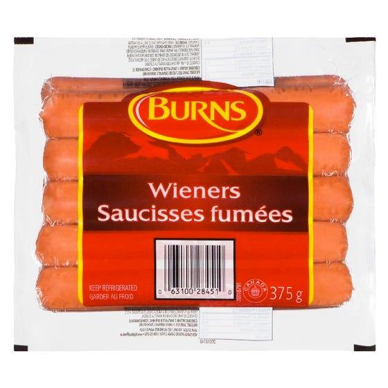 Burns Saucisses Fumées 375G