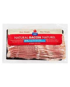 Maple Leaf Bacon 25% Less Salt 375G