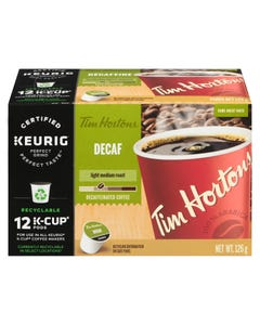 Kcups Tim Hortons Decaf 12ct