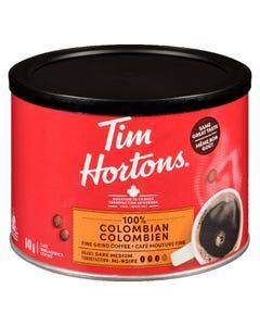 Tim Hortons 100% Colombian Fine Grind Coffee Dark Medium Roast 640G
