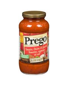 Prego Pasta Sauce Tomato, Onion & Garlic 645ML