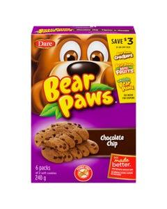 Dare Bear Paws Chocolate Chip 240g
