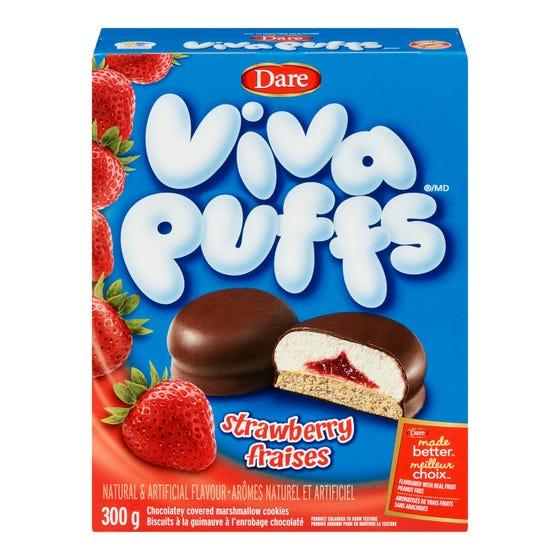 Dare Viva Puff Cookies Strawberry 300g