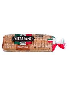 D'Italiano Thick Sliced 100% Whole Wheat Bread 675G