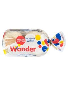 Wonder Scrumptious White English Muffins 342G