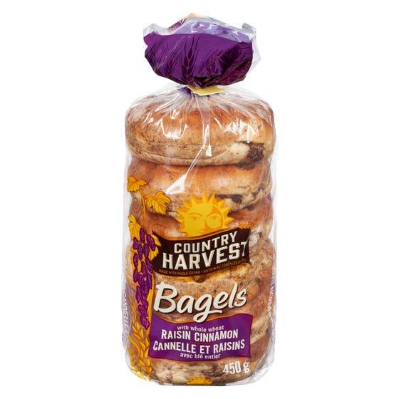 Country Harvest Bagels Cannelle et Raisins 450G