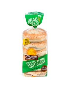 Country Harvest Bagel Everything 6ct
