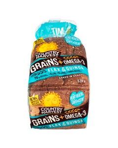 Country Harvest Flax & Quinoa Bread 570G