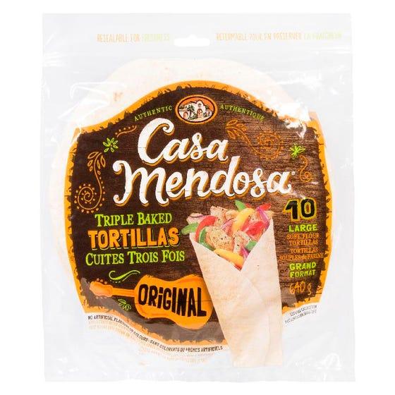 Casa Mendosa Tortillas Original 10in 640G