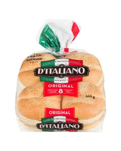 D'Italiano Hamburger Buns 8CT