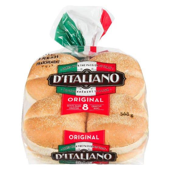 D'Italiano Hamburger Buns 8CT