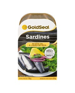 Gold Seal Sardines à l'Huile De Soya 125G