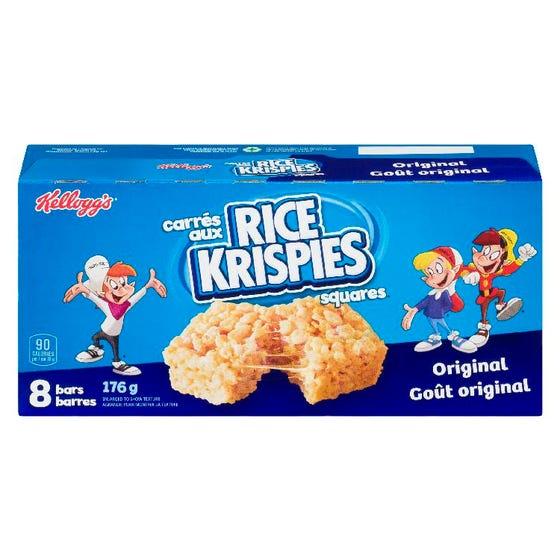 Kelloggs Carrés Aux Rice Krispies Goût Original 8'S 176G