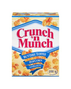 Crunch 'n Munch Buttery Toffee Popcorn with Peanuts 200g