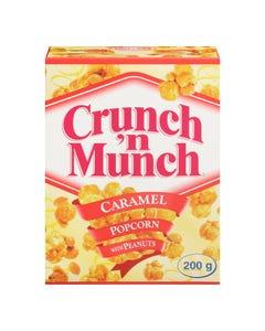 Crunch 'n Munch Caramel Popcorn with Peanuts 200g