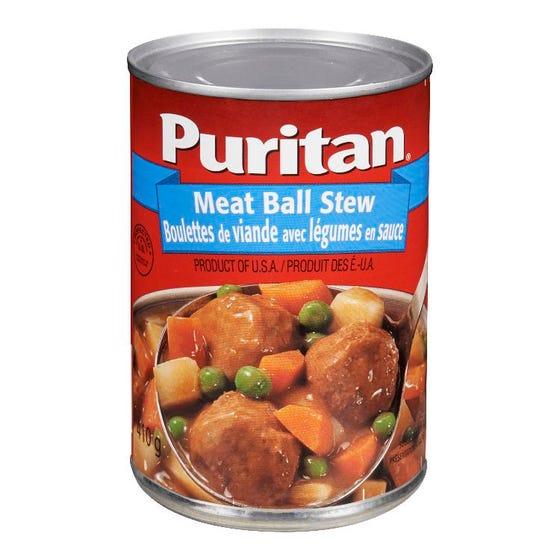 Puritan Ragoût Boulettes Viande avec Légumes en Sauce 410G